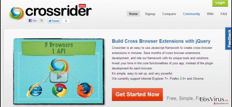 Las redirecciones a Search.crossrider.com foto