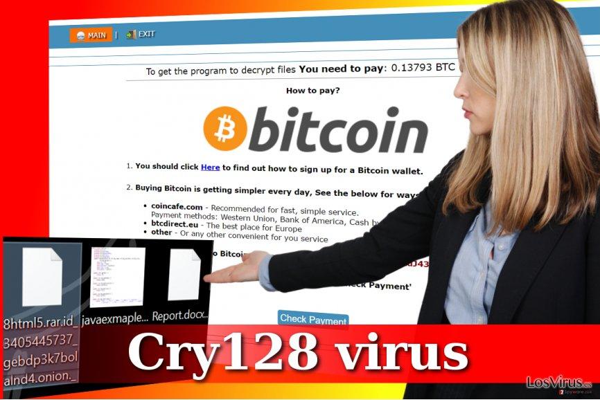 Ataque del ransomware Cry128