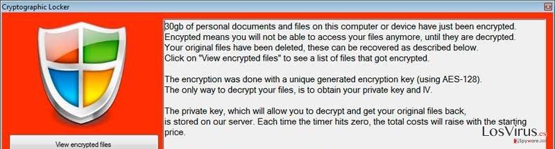 El virus Cryptographic Locker foto