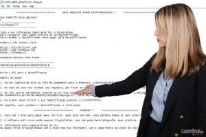 El virus ransomware Cryptolocker Portuguese