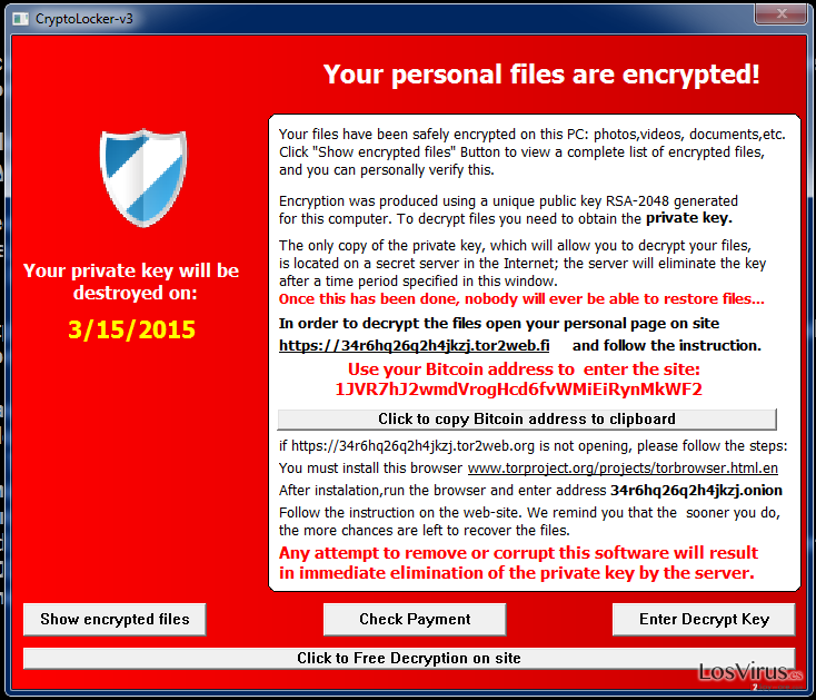 El virus Cryptolocker-v3 foto