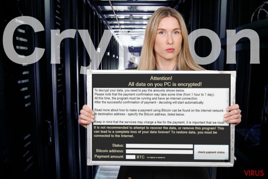 Imagen del virus ransomware Crypton