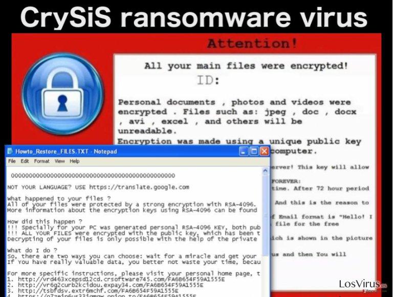 El virus ransomware CrySiS foto
