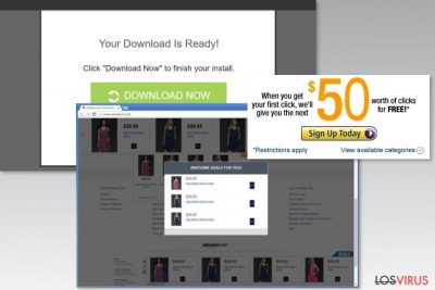 Ejemplo de los anuncios de D2ucfwpxlh3zh3.cloudfront.net
