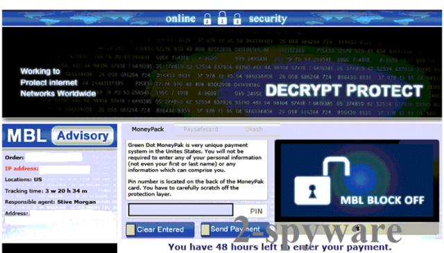 El virus Decrypt Protect foto