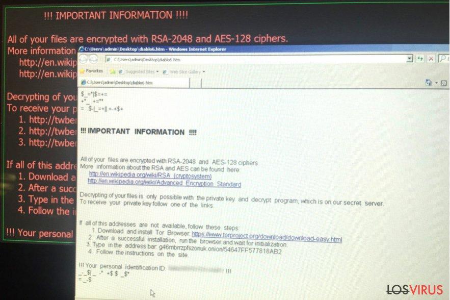 Virus ransomware Diablo6