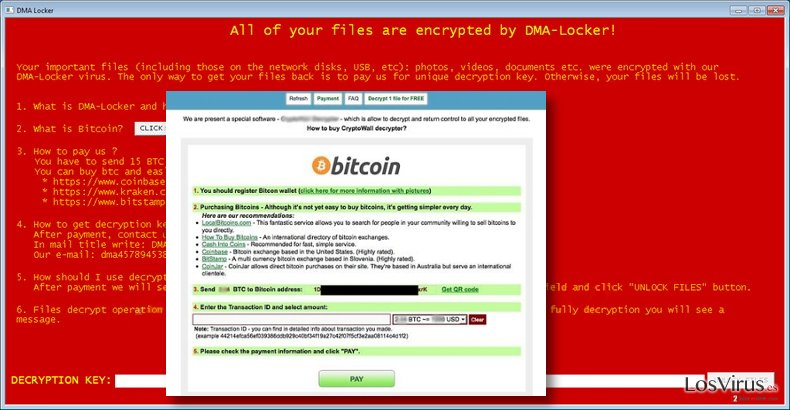 DMA-Locker virus message
