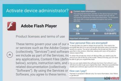Imagen del virus ransomware DoubleLocker
