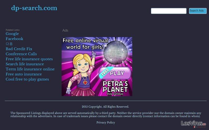 El virus Dp-search.com foto