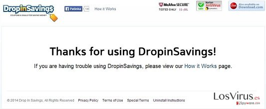 El virus DropinSavings foto