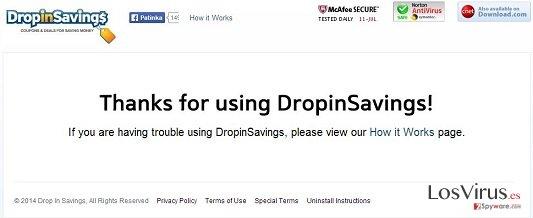 El virus DropinSavings foto