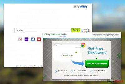 Virus EasyDirectionsFinder Toolbar