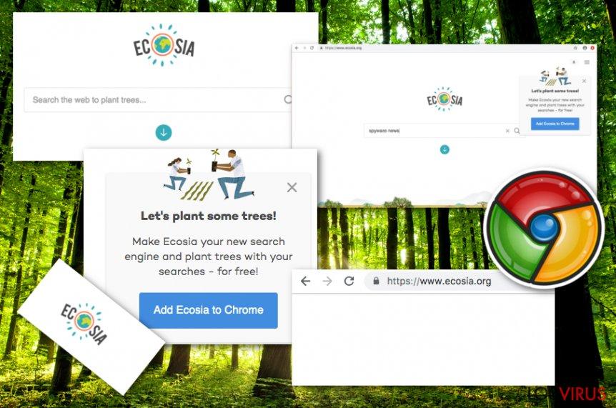 El virus Ecosia.org foto