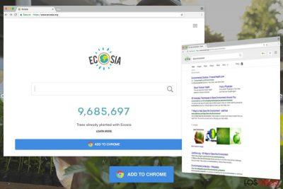 Ejemplo de Ecosia.org
