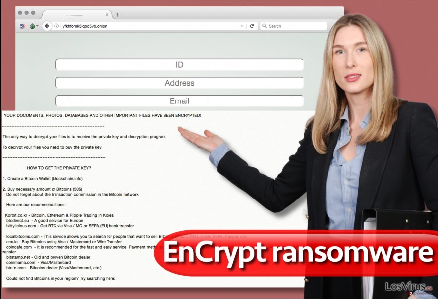 El virus ransomware EnCrypt