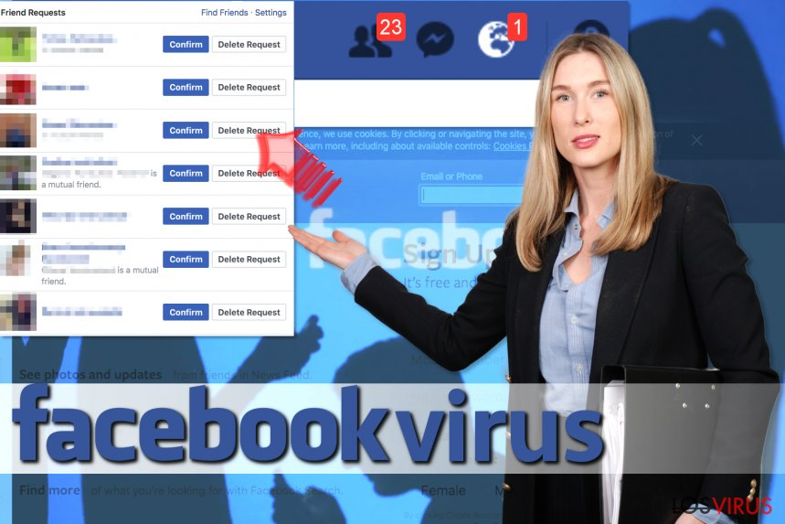 El virus Facebook Friend Request foto