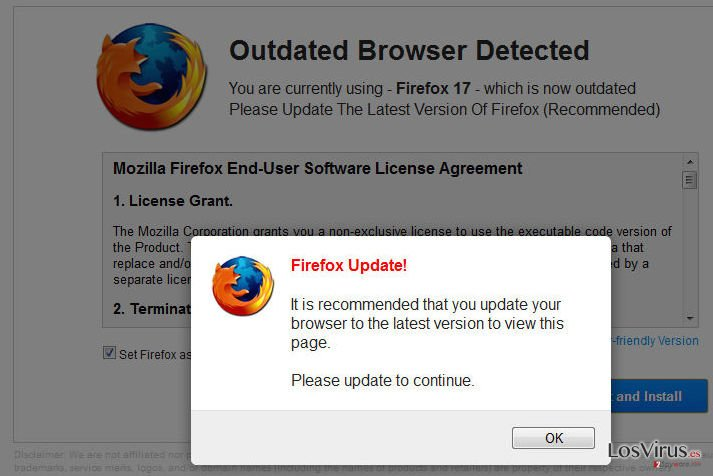 WARNING: Your Current Browser Is Outdated! foto