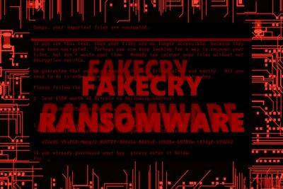 La imagen que muestra el virus FakeCry