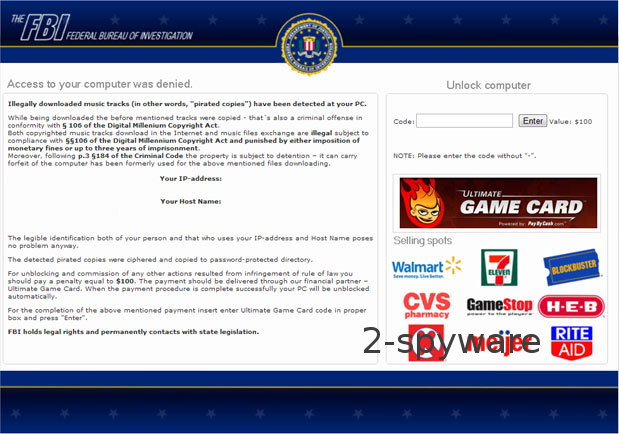 FBI Ultimate Game Card virus foto