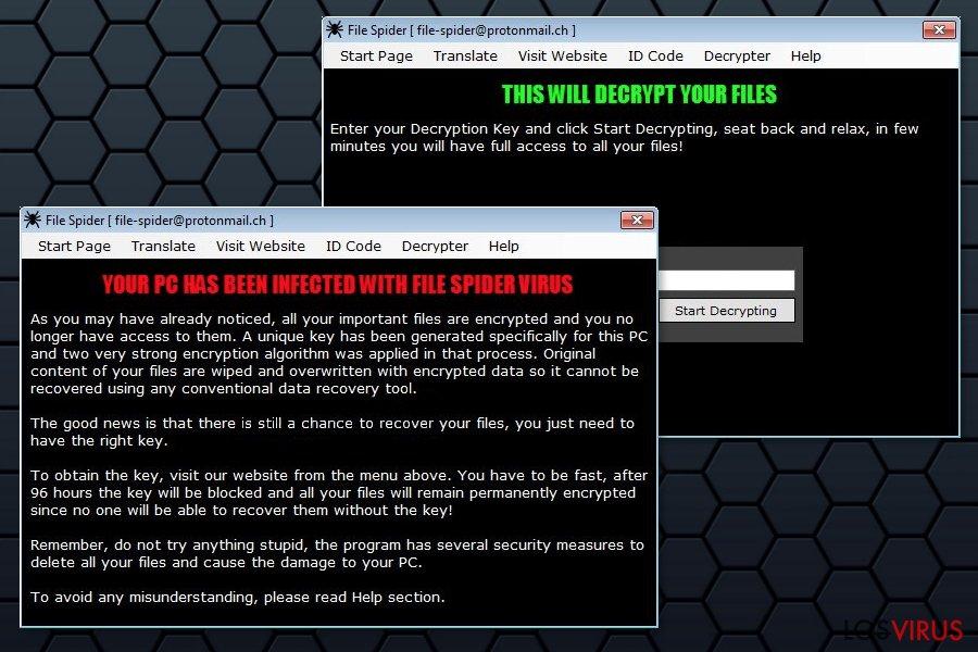 Ilustración del ransomware File Spider