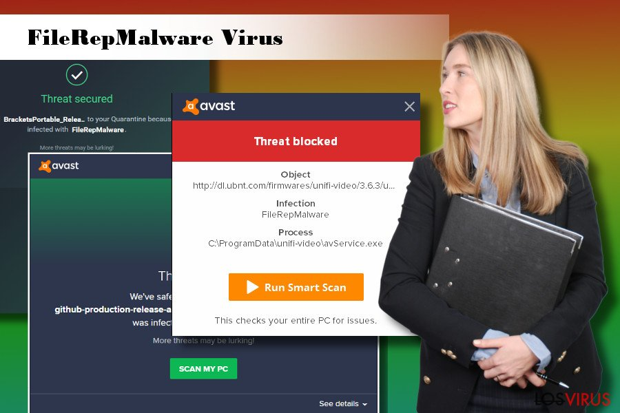 Ilustración del virus FileRepMalware