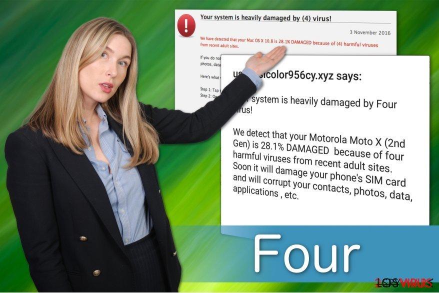 El virus Four tiene múltiples variantes