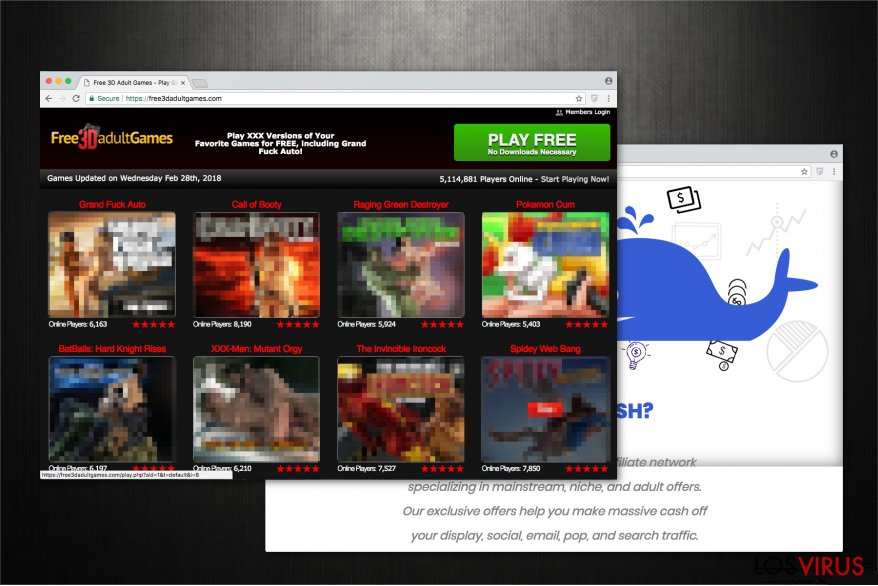 La imagen de la página web Free3dadultgames.com