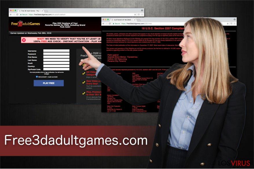 Ilustración de la plataforma de juegos para adultos Free3dadultgames.com