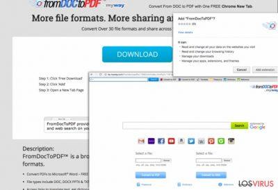 Pantallazo de la toolbar From Doc to PDF