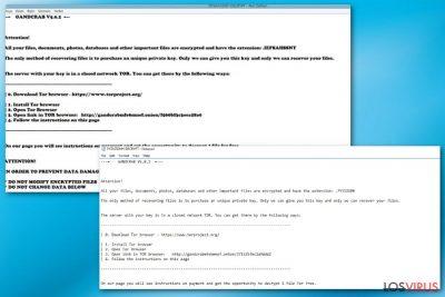 Virus ransomware GandCrab 5.0.2
