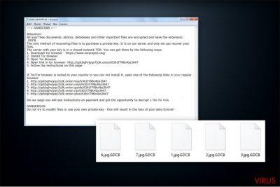 La nota de pago del ransomware GrandCrab