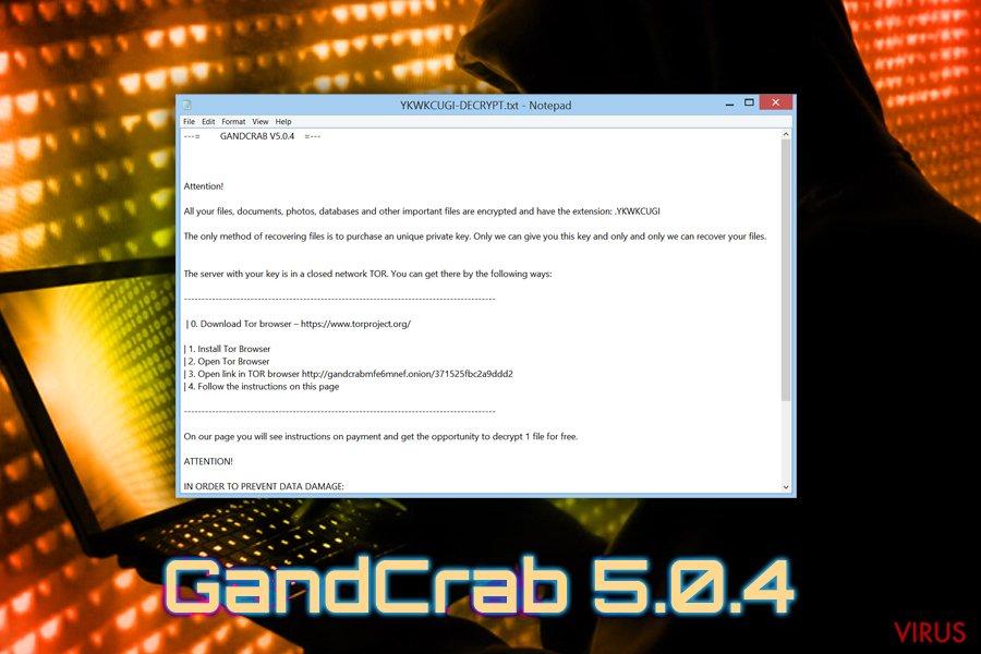 Virus GandCrab 5.0.4