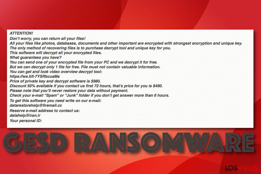 Virus ransomware Gesd