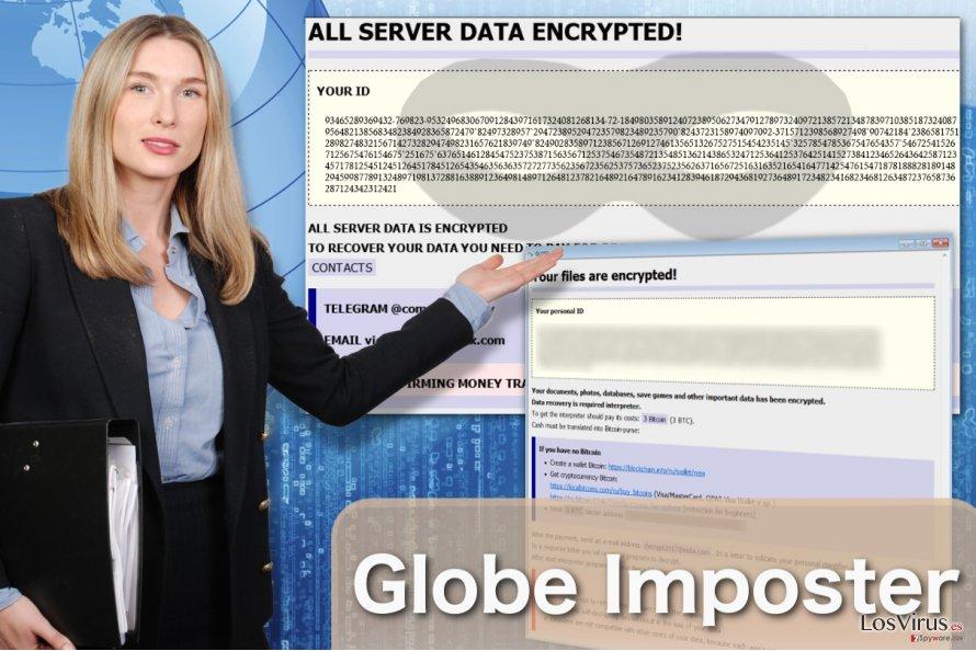 Imagen del virus Globe Imposter
