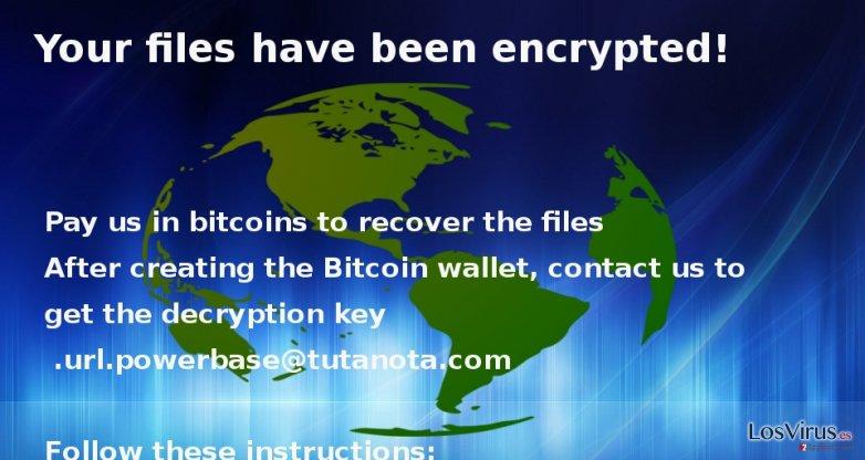 El virus ransomware Globe