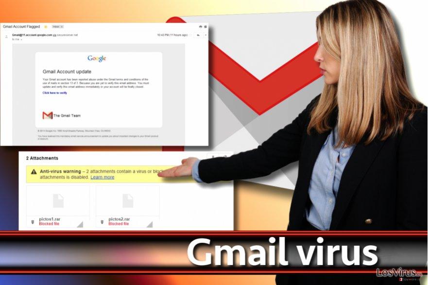Pantallazo de virus Gmail
