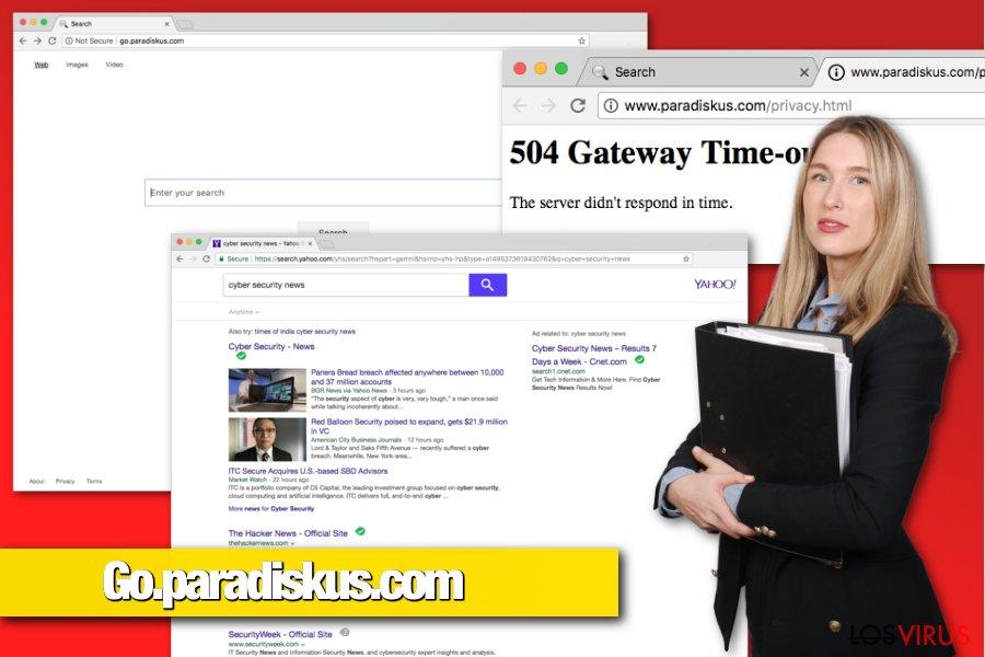 Hacker de navegador Go.paradiskus.com