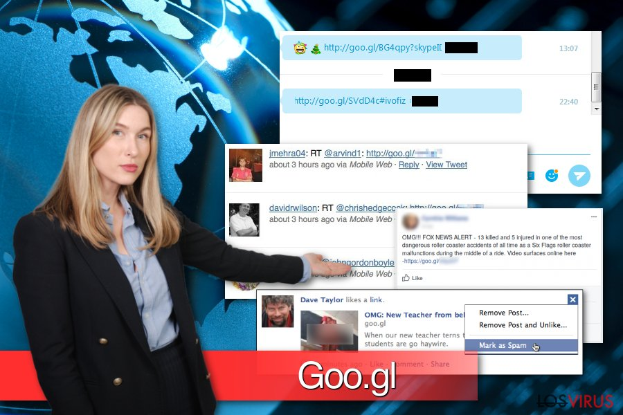 Ejemplos del malware Goo.gl