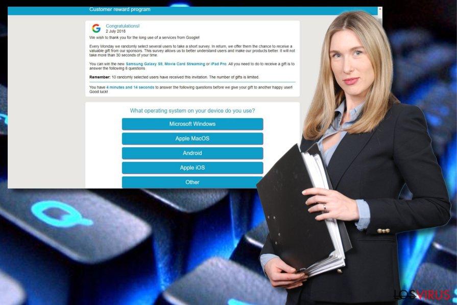 Estafa Programa de Recompensas para Clientes de Google