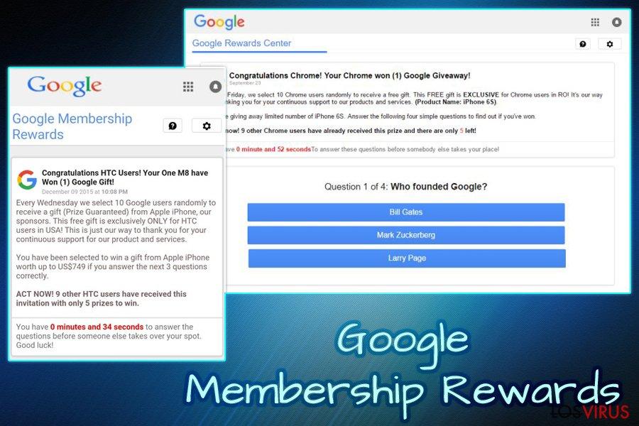 Virus Google Membership Reward