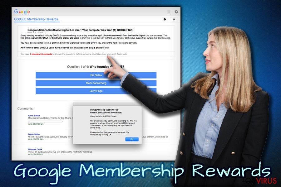 Encuesta estafa Google Membership Reward