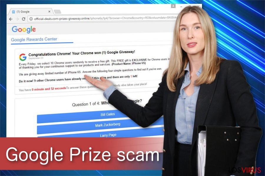 Ilustración de la estafa Google Prize