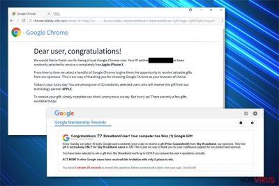 Imagen de la estafa Google Prize