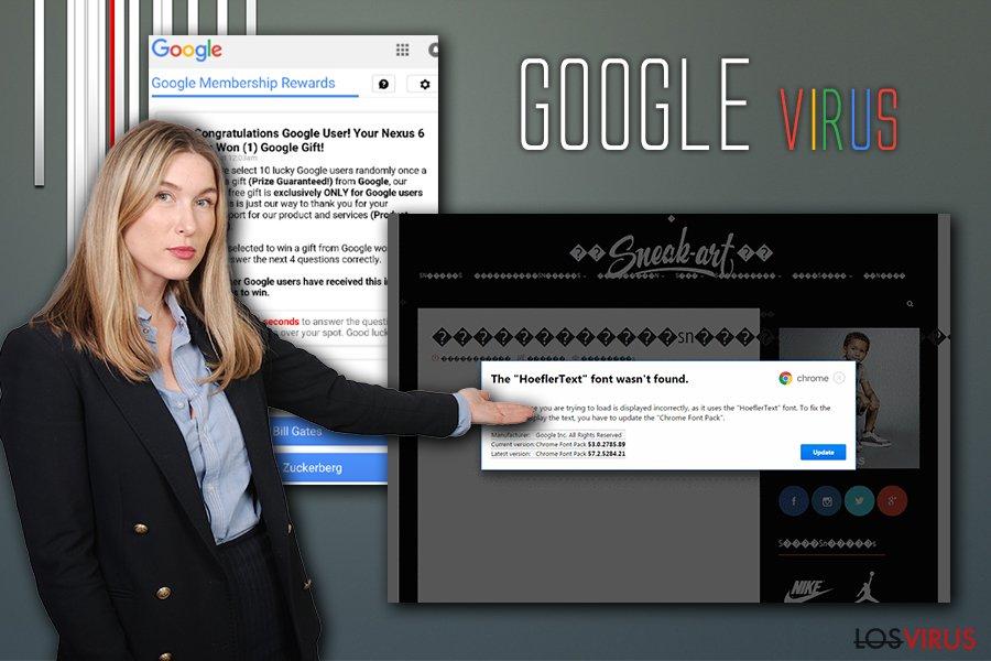 Infección de un virus Google