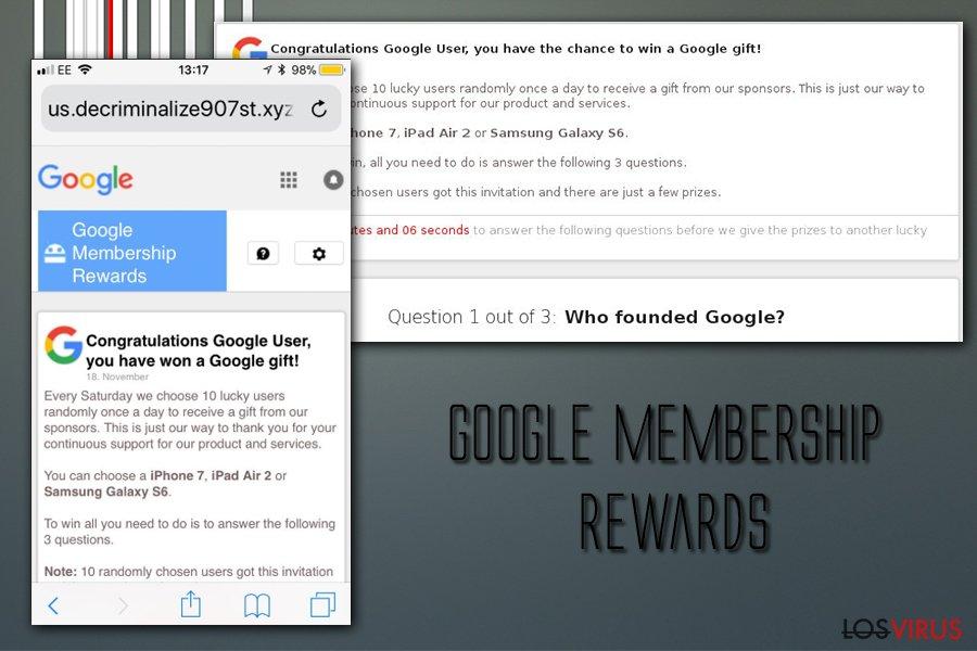 Premios de membresía de los virus de Google