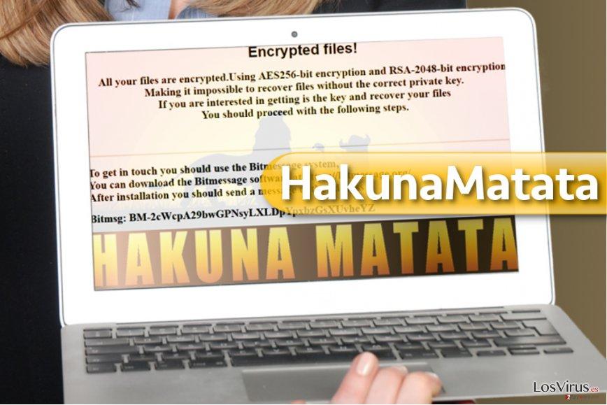 El virus ransomware HakunaMatata foto