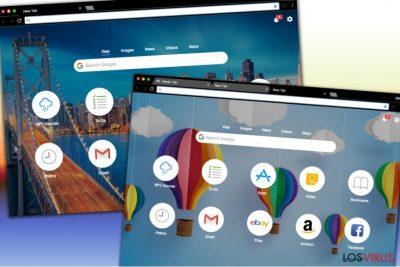 Diferentes diseños del sitio Handy-Tab.com