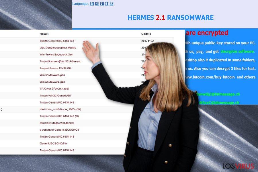 La imagen que muestra las notas de pago alternativas de Hermes 2.1