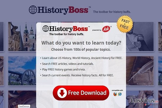HistoryBoss Toolbar foto