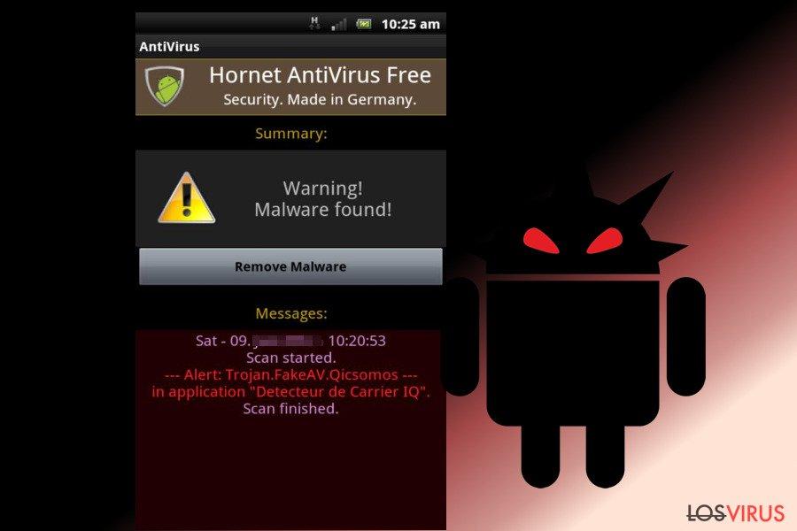 El virus Android foto
